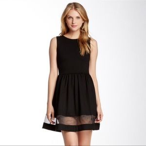 Love...Ady : Sheer Detail Fit and Flare Dress